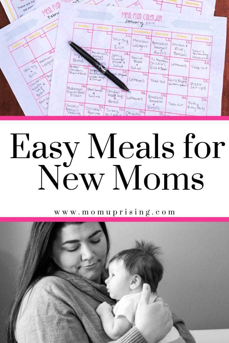 Easy Meals for New Moms: Meal Planning Postpartum 101